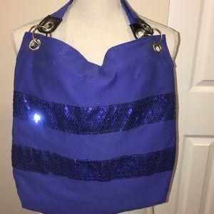 Forever 21 Blue Sequin Embellished Tote Bag